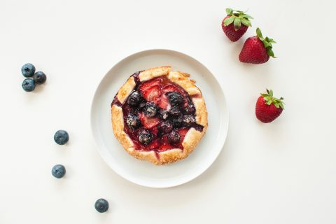 Mini summer fruit galette